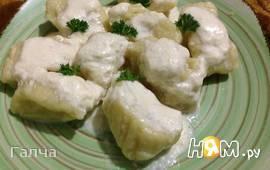 Картофельные ньокки с соусом из горгонзолы
