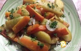 Картофель жареный с тыквой