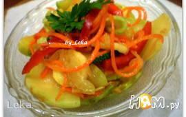 Салат из кабачков в корейском стиле