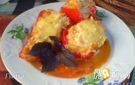 Фаршированные перцы с сыром на сковороде