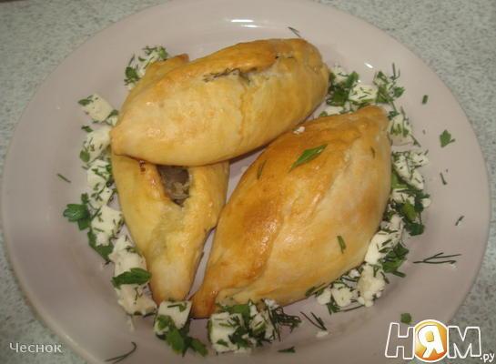 Пирожки с фаршем и адыгейским сыром