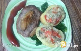 Мясо по-мальтийски с картофельными лодочками