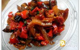 Кади-ча - жаренные баклажаны с овощами