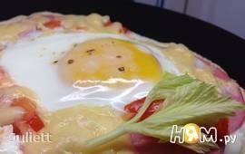 Пита с колбасой,сыром и яйцом