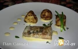 Треска-сувид с кипрейно-горчичным соусом