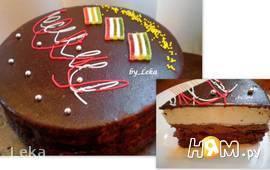 Торт с суфле и ягодной прослойкой