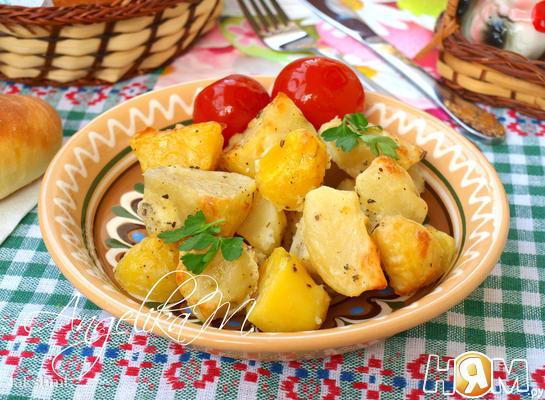 Печёный картофель румяный