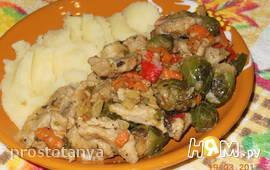 "Мясо "" Гирос"" с овощами"