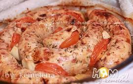 Колбаски куриные домашние с сушеными томатами