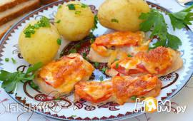 Филе индейки запечённое с помидорами