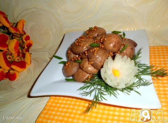 Маринованные шампиньоны в соевом соусе