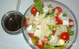 Салат с тунцом и кус кусом