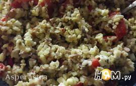 Простой рыбный салат с булгуром