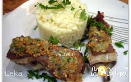 Бараньи ребрышки с розмарином и лимонным рисом
