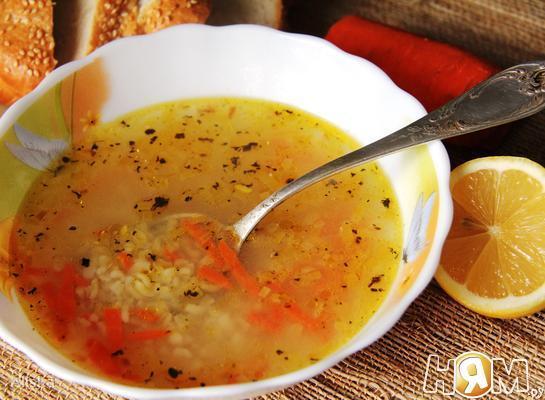 Лимонно-чесночный суп.