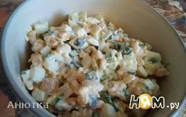 Салат с кукурузой и зеленым луком