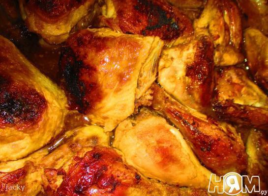 Цыпленок в вине и ананасе