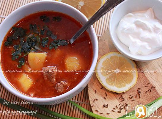 Суп бразильский из говядины с тмином