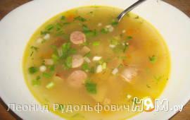 Суп с фасолью и колбасками