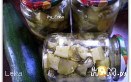 Маринованные кабачки с укропом