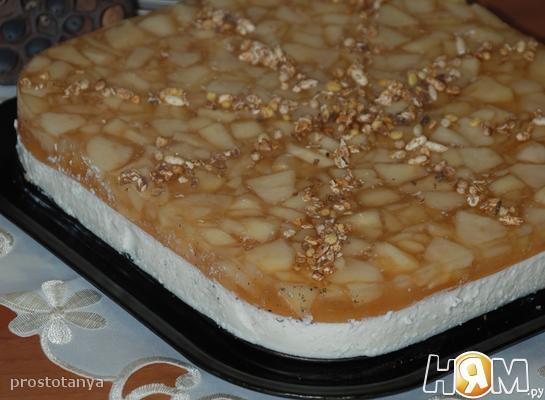 """Творожно - яблочный торт """"Осенний блюз"""""""