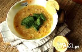 Лимонный суп с рисом и чечевицей.