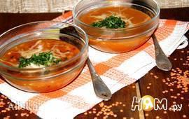 Бразильский острый суп из чечевицы.