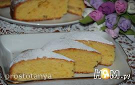 Цитрусовый пирог с кукурузной мукой