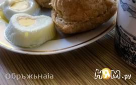 Яйца-пашот в силиконовых формочках на завтрак