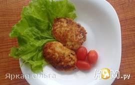 Куриные котлетки с творогом и овощами по Дюкану