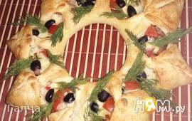 """Пицца """"Рождественский венок"""""""