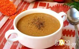 Суп-пюре с баклажанами и красной чечевицей