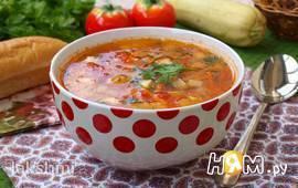 Суп с кабачками и помидорами