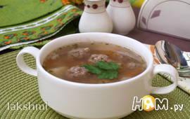 Гречнеый суп с фрикадельками