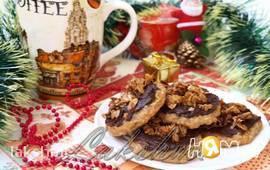 Банановое печенье с творогом и шоколадом