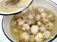 Приготовление маринованных шампиньонов на закуску: шаг 4