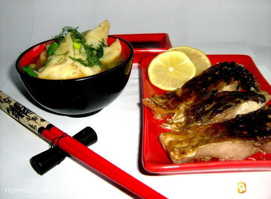 Рецепт Рыбный суп с креветочными пельменями