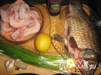 Приготовление рыбного супа с креветочными пельменями: шаг 1