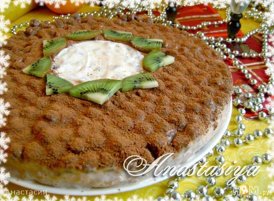 Рецепт Йогуртовый торт-десерт «Новогоднее чудо»