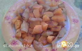 Печеная тыква с яблоком