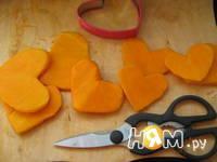 Приготовление тыквенных сердечек с креветками: шаг 2