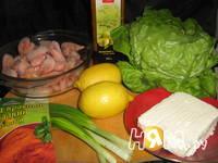 Приготовление салата с креветками и творогом: шаг 1