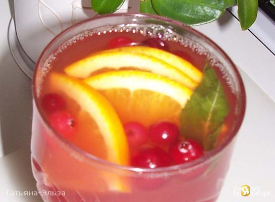 Рецепт Клюквенно-апельсиновый пунш