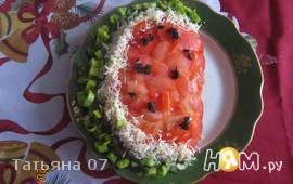 Салат долька арбуза
