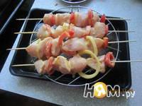 Приготовление шашлыка на шпажках в духовке: шаг 4