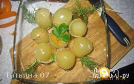 Маринованные зеленые помидоры с начинкой