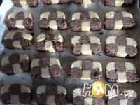 Приготовление печенья Шахматного: шаг 6