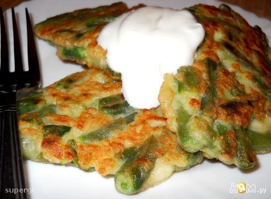Шницель вегетарианский из стручковой фасоли
