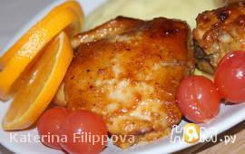 Куриные окорочка в апельсиновом соусе