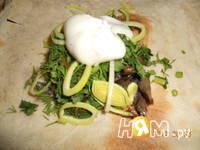 Приготовление грибов в лаваше: шаг 4